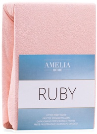 AmeliaHome Ruby Frote Bedsheet 120-140x200 Peach 06