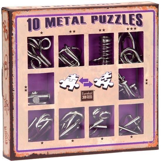 Galda spēle Eureka! 10 Metal Puzzle Violet