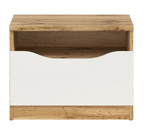 Black Red White Nuis KOM1S Chest Of Drawers Wotan Oak/White