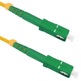 Qoltec SC/APC to SC/APC Optic Singlemode Cable Yellow, 1 m