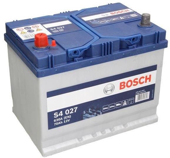 Akumuliatorius Bosch S4 027, 12 V, 70 Ah, 630 A
