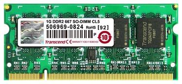 Transcend JetRam 1GB 667MHz DDR2 SO-DIMM CL5 JM667QSU-1G