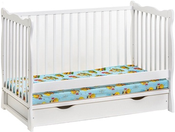 ASM Ala II Plus Baby Cot White