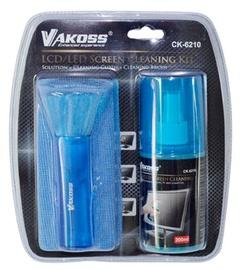 Vakoss Cleaning Kit for LCD / 200ml liquid / brush / cloth