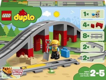 Конструктор LEGO Duplo Железнодорожный мост 10872, 16 шт.