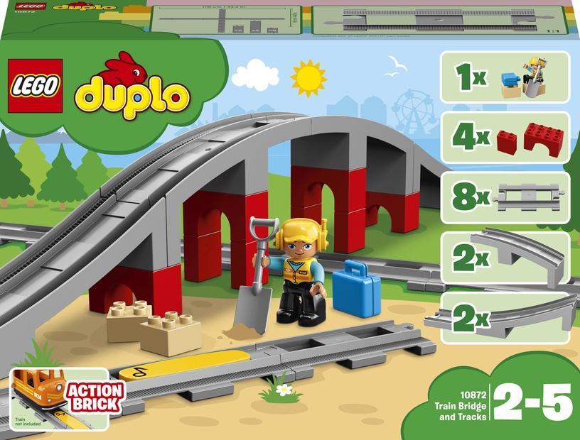 Konstruktor LEGO Duplo Rongisild ja -rööpad 10872, 16 tk