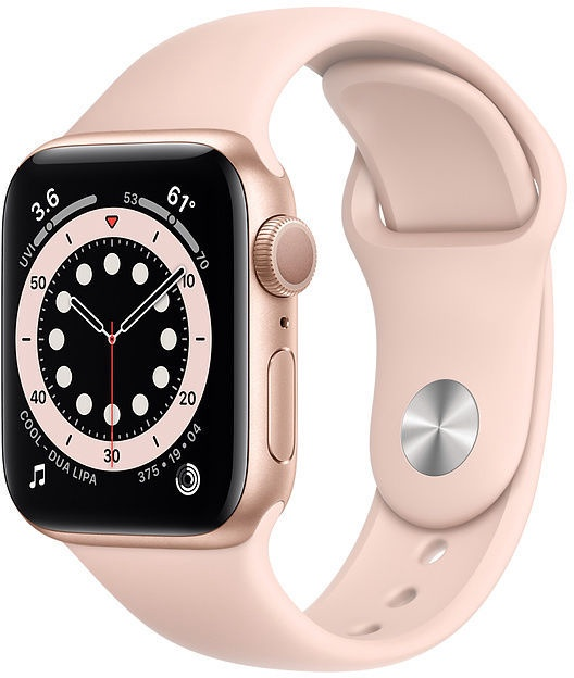 Apple Watch Series 6 GPS 40mm Gold Aluminum Pink Sand Sport Band