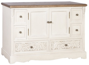 Home4you Chest Of Drawers Samira Wat White/Light Brown