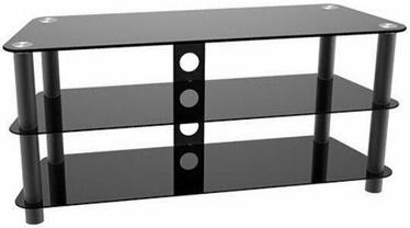 Maclean MC-625 TV Table w/ Glass Black