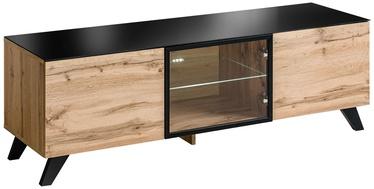 TV staliukas ASM RTV Thin Wotan Oak/Black, 1500x450x470 mm