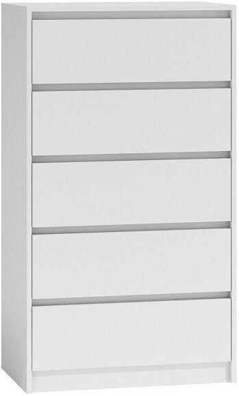 Kumode Top E Shop Karo K5 White, 70x43x124 cm