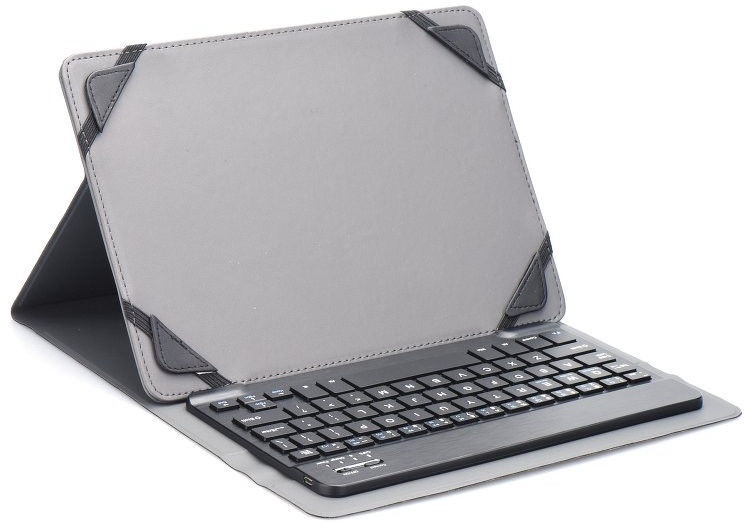"""Blun UNK Universal Book Case w/Bluetooth Keyboard and Stand 7"""" Black"""