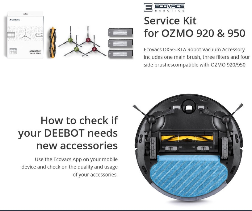 Ecovacs Deebot Buddy DX5G-KTA Accessory Set