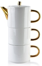 Mondex Dolores Jug With Cups Set White