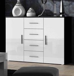 Cama Meble Uni Chest Of Drawers Black/White Gloss