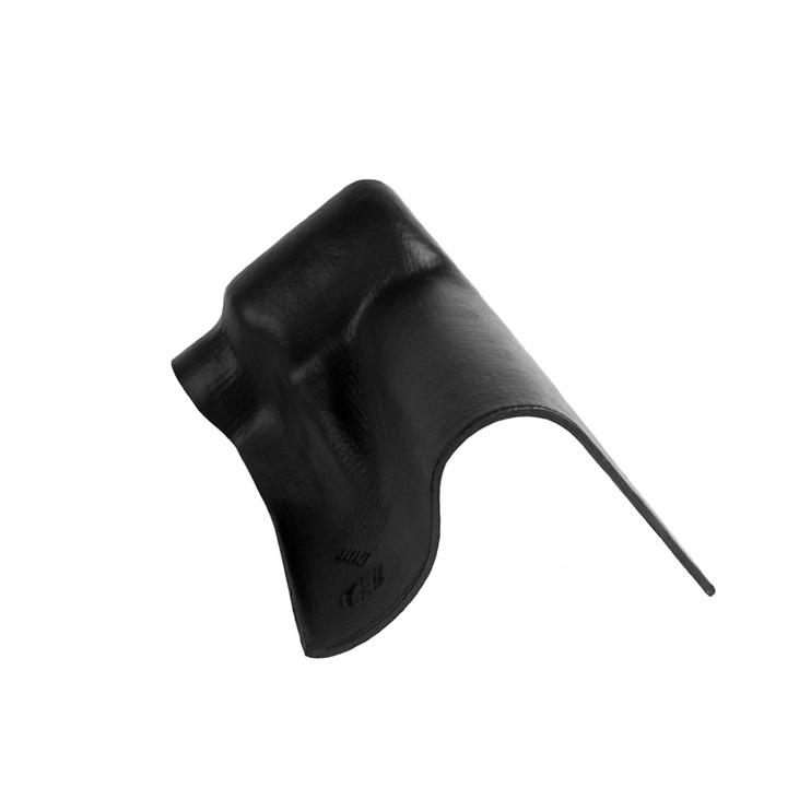 Vėjalentės apatinis gaubtas Eternit, juodas, dešininis, 40 x 25 cm