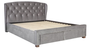 Home4you Louis Bed w/ Drawers 160x200cm Grey