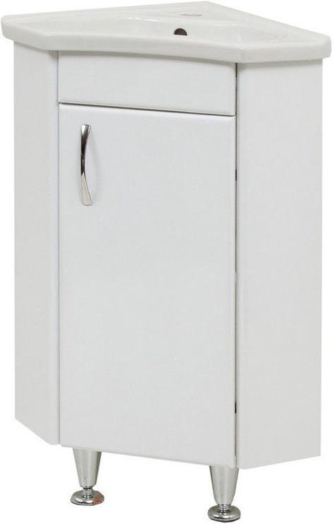 Угловой шкаф для ванной Sanservis with Basin White 41.5x80x41.5cm