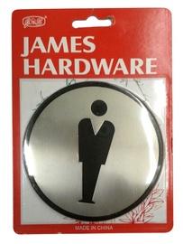 Vyrų tualeto durų ženkliukas SN001-5 SS, 9,7 cm