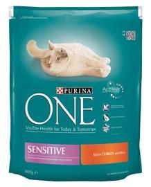 Kaķu barība One Adult ar tītara gaļu 800g