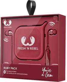 Ausinės Fresh 'n Rebel Vibe Bluetooth In-Ear + Rockbox Pebble Ruby, belaidės