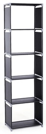 Songmics Storage Shelves Black 50x30x180cm