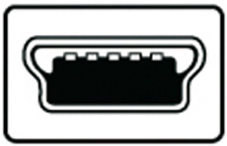 Assmann Splitter Cable USBx2 / USB-mini Black 1m