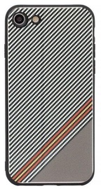 Mocco Trendy Grid And Stripes Pattern 1 Back Case For Samsung Galaxy S8 White