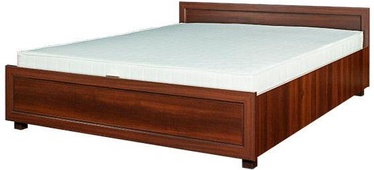 Bodzio Grenada 45 Double Bed w/ Mattress 140x200 Walnut