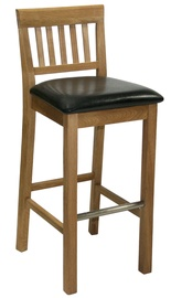 Home4you Laura Bar Stool Dark Brown/Oak