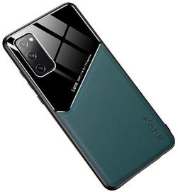 Чехол Mocco Lens Leather Back Case Samsung Galaxy A12, черный/зеленый