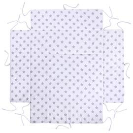Lulando Playpen Mat For Children White With Grey Stars 100x100cm