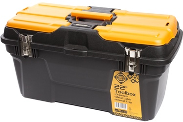 Forte Tools MG-22 Toolbox 582x234x310mm Black/​Yellow