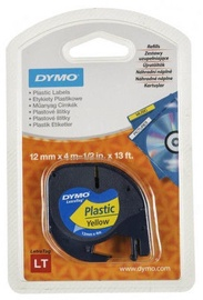 Dymo Plastic Yellow Tape 12mmx4m