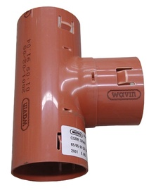 Drenāžas trejgabals Wavin D65mm, 90°, PVC