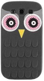 Mocco 3D Owl Back Case For Samsung Galaxy A3 A310 Black