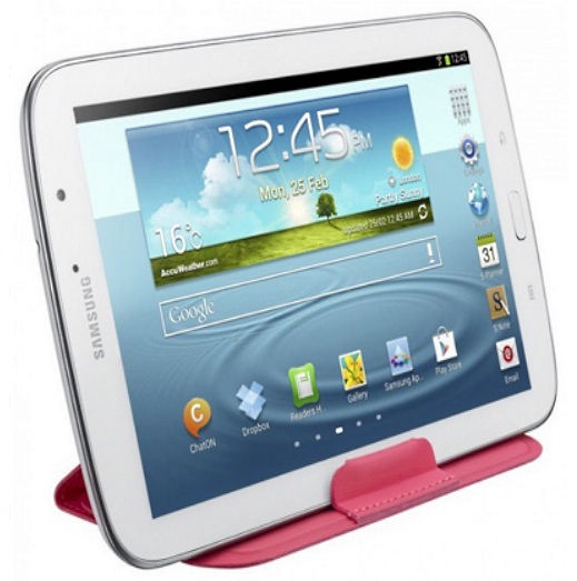 """Samsung Universal 7-8"""" Galaxy Tab Pouch Case w/Stand Pink"""
