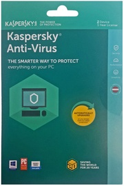 Kaspersky Antivirus 2018 2-PC 1Y Renew