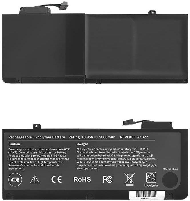 Qoltec Long Life Notebook Battery For MacBook Pro 13'' 5800mAh
