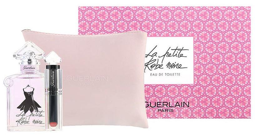 Guerlain La Petite Robe Noire Eau Fraiche 50ml EDT + La Petite Robe Noire Lipstick 2.8g 061 + Bag