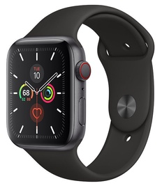 Išmanusis laikrodis Apple Watch Series 5 44mm GPS Space Gray Aluminum Case with Black Band S/M & M/L Cellular