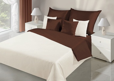 DecoKing Nova Bedding Set Cream/Brown 135x200/80x80