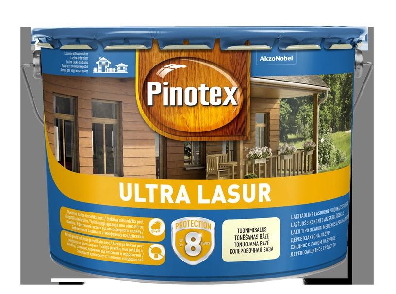 Impregnantas Pinotex Ultra Lasur EU, raudonmedžio spalvos, 10 l