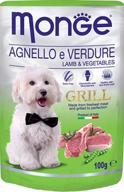 Monge Grill Pouch Lamb/Vegetables 100g