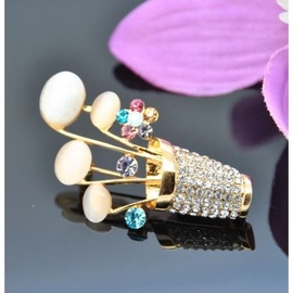 Vincento Brooch With Zirconium Crystal LD-1229