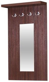 Bodzio Clothes Hanger With Mirror Aga Walnut