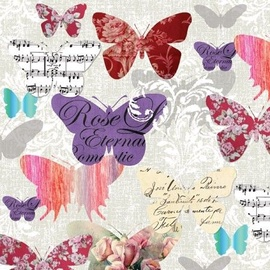 Paw Decor Collection Romantic Butterflies 33 x 33cm