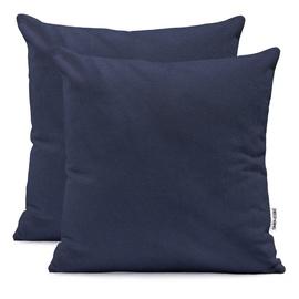 DecoKing Amber Pillowcase 80x80 Navy Blue 2pcs