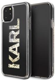 Karl Lagerfeld Karl Logo Glitter Back Case For Apple iPhone 11 Pro Max Black
