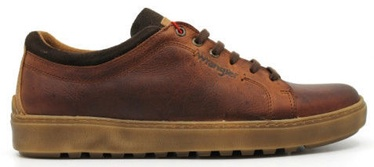 Wrangler Historic Derby Casual Leather Shoes Cognac Brown 42